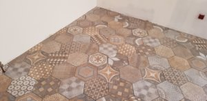 carreaux de ciment hexagonales
