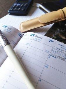 Agenda - organisation travaux